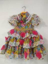Vestida infantil junino