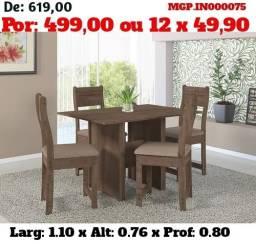 Conjunto de Mesa de 4 Cadeira- Mesa de Jantar - Liquida em Cascavel