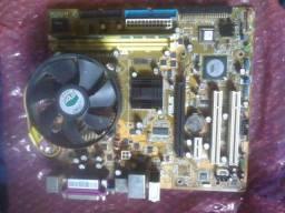 Placa mãe Asus 775 com cooler e processador