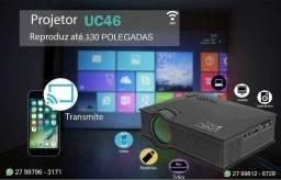 Mini Projetor Led Profissional 1200 Lumen Wifi Miracast Uc46 Dividimos, entregamos