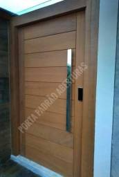 Porta pivotante madeira maciça alto padrão