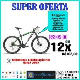 """Bicicleta aro 29"""" apenas 12x de r$108,00"""