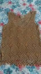 blusa de tricô bordada