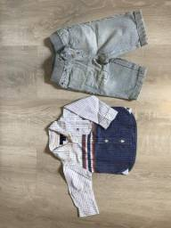 Camisa e calça Tommy infantil. Tam 3-6 meses