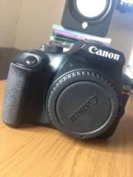 Câmera Canon T6 + Lente Canon 18-55mm + Lente Youngnuo 50mm + 2 baterias + SD 64gb