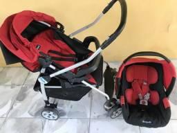 Conjunto carrinho de bebê e bebê conforto Burigotto