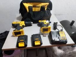 Dewalt kit parafusadeira de impacto e furadeira 20v