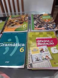 Livros de várias disciplinas 6°Ano