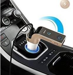 Transmissor FM carregador Veicular bluetooth