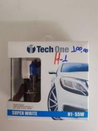Lâmpada super White tech one h1 nova instalado no seu carro