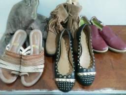 5 pares de sapato numero 39