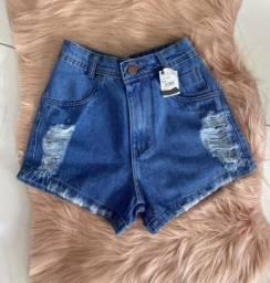 Short jeans novo Tam 38