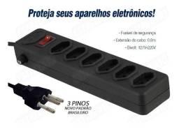 Filtro de Linha Protetor Eletrônico 6 Tomadas
