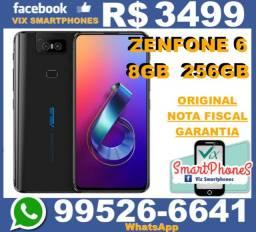 Top/8GB/256GB Zenfone 6 256GB 8GB ram bateria 5000