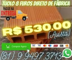 TiJOlo Tijolo oito furos direto de fabrica com ate 3 milheiro entrega gratis