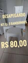Kit com 3 banquinhos *Somente Venda**