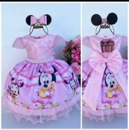 Título do anúncio: Vestido infantil Minnie baby