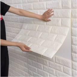 Só hj. Painel Placa 3d Tijolo Branco Espuma Adesiva 70x76 Revestimento de Parede Teto