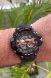 Título do anúncio: Relógio - ótimo para corrida. Analógico e digital com cronômetro.