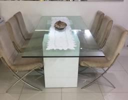 Mesa de Vidro com 6 cadeiras Officina Design