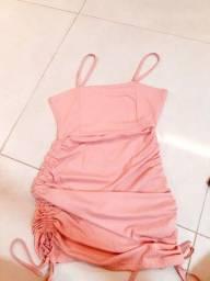 Vestido rosa tubinho