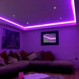 Fit led RGB 5 metros com controle de sons e efeitos 16 cores