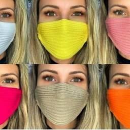 Máscara das bloguerinhas de crochê