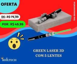 Green laser 3D com 5 lentes
