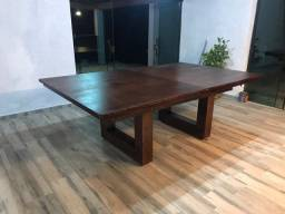 Título do anúncio: Mesa multi-uso jantar, bilhar e ping-pong *pé em U*.
