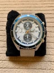 "Relógio Orient Cronógrafo Pulseira ""Mesh"" Ref: Mbssc179 S1sx"