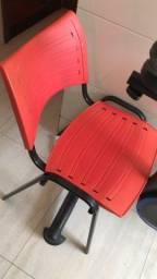 Cadeira secretaria sem rodinha