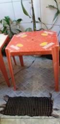 2 mesa vermelha plastico da brahma