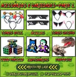 Tiaras, Óculos, Luminárias, Cubo Mágico, Fantoches - NerdDog Store