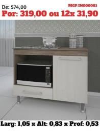 Balcão de Pia 1,20- Balcão de Cuba- Balcão de Cozinha - Liquida em MS