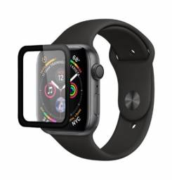 Película Apple Watch 44 mm, PMMA, iPlace, Borda Curva, Preto