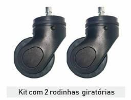 KIT C/ 2 PÇS - RODINHA DE MALA GIRATÓRIA PARA SUBSTITUIÇÃO