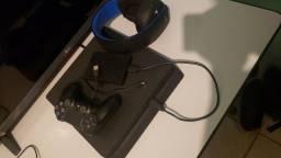 PS4 SLIM 500GB + HEADSET SONY 7.1 GOLD + HD 1 TERA SEAGATE, NAO ACEITO TROCA!!!