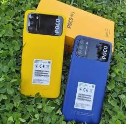 Poco M3 64GB Amarelo/Azul