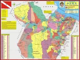 Mapa do Estado do PARÁ Político-Turístico-Rodoviário. (NOVO)
