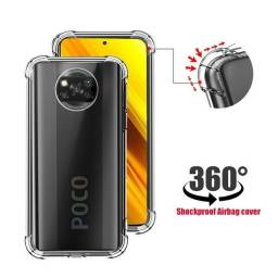 Título do anúncio:  Capa Silicone Transparente Xiaomi Poco X3 Anti Impacto