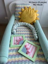 Kit berço / kit cama infantil ou baba
