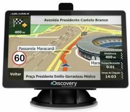 Linha GPS Discovery 4.3, 5 e 7 polegadas com TV digital original alerta radar mapa 2018