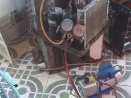 Recarga de gas em ar condicionado