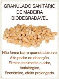 Granulado Sanitário de Madeira Biodegradável para gatos 15Kg