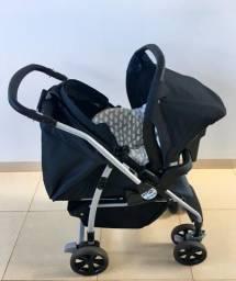 Carrinho de bebê e bebê conforto Burigoto AT6
