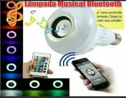 Lâmpada Led 6w Caixa de Som Bluetooth 2 em 1 mp3 music