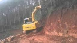Escavadeira komatsu pc 130 ano 2013