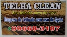 Telha clean limpeza de telhas sem uso de água