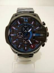 0b86ee41a65 Relógio Diesel aço preto e azul - Frete Grátis