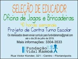 Vaga - Educador de Educação Física - Fundação Vidal Ramos